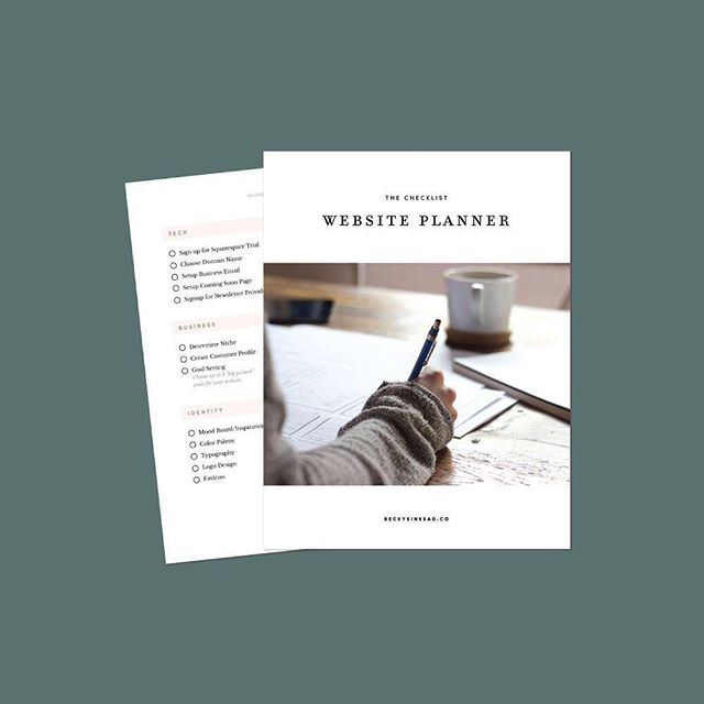 Check out the free website planning checklist so nothing slips through the cracks! Link in description 👩🏼‍💻