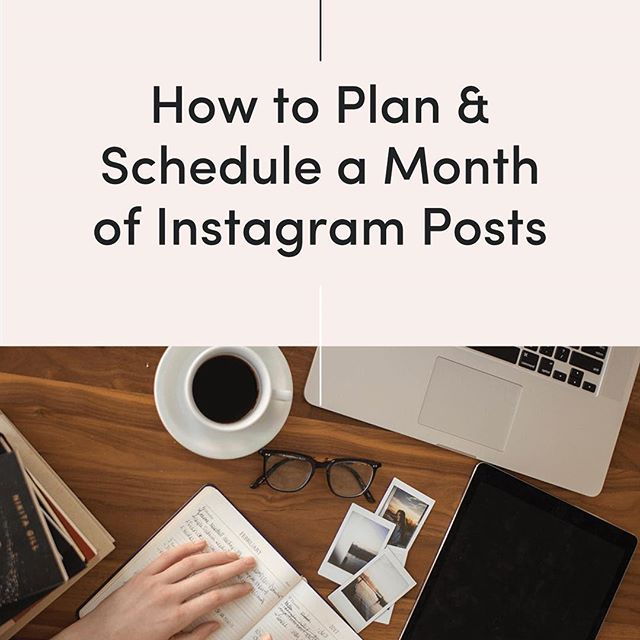 Latest on the blog! How to plan & schedule a month of Instagram posts👩🏼‍💻 👉 link in description
