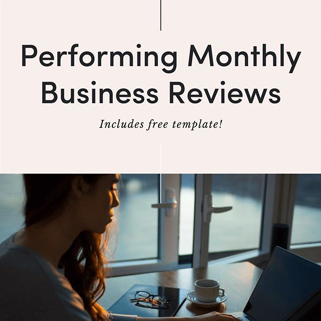 Latest on the blog - perform a monthly business review, free template included! Link in bio 👩🏼💻