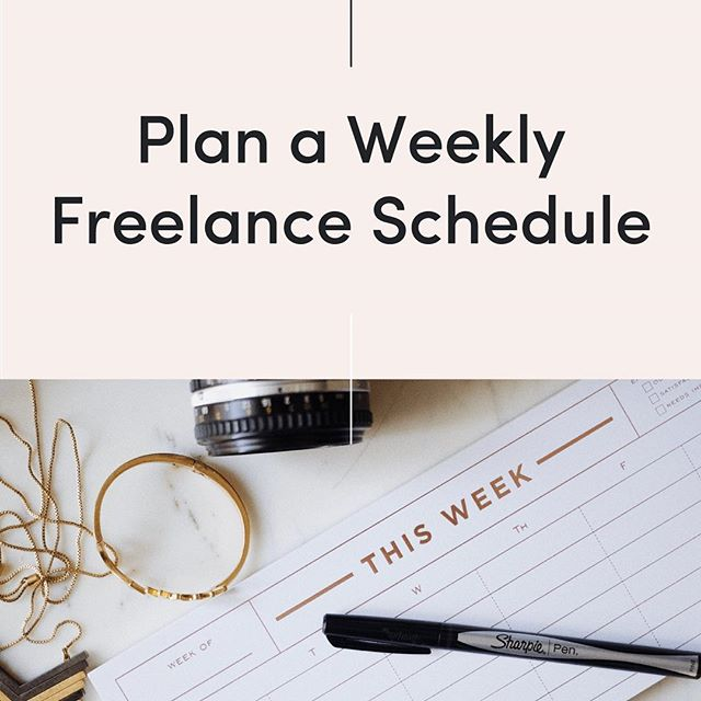 Latest on the blog, creating a simple but productive freelance schedule 👩🏼‍💻 link in bio!