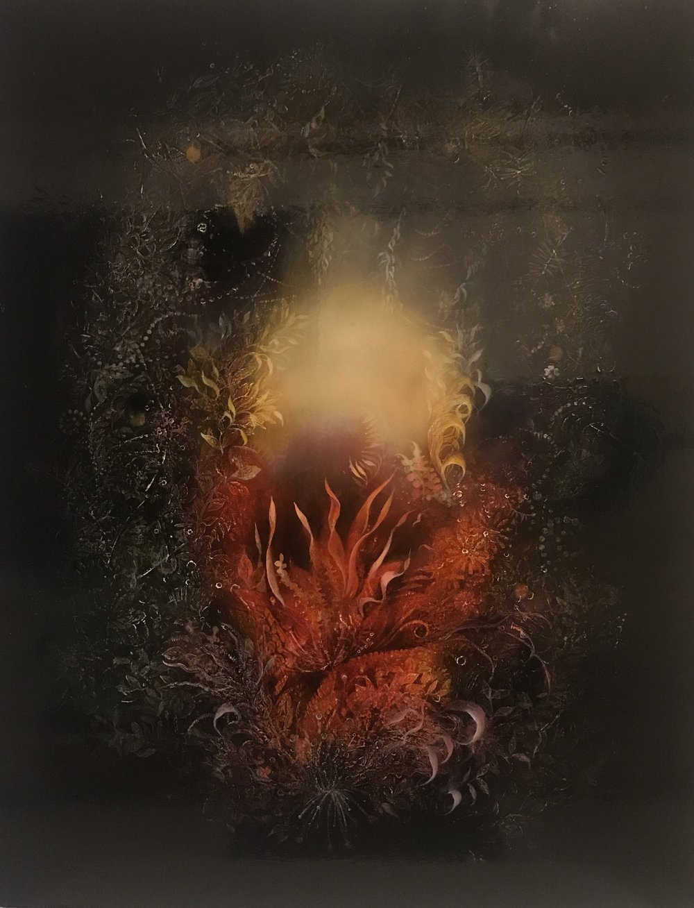 Hallows, Oil & wax, 24x18, 2018 (sold)