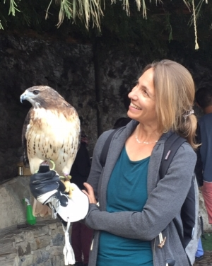 Astrid with eagle