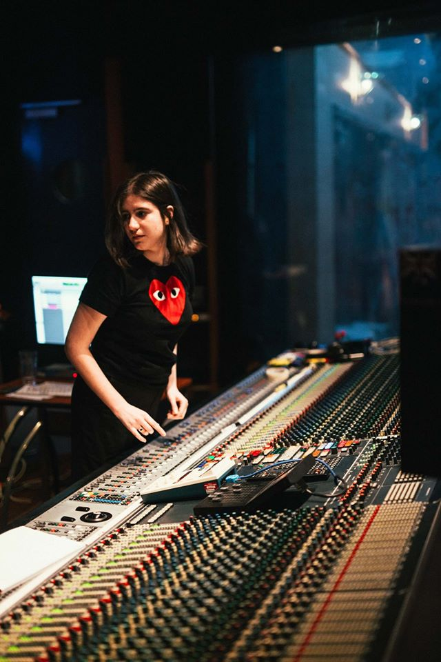 Antonia at Studios 301 in Studio 1 driving the Neve sound desk like a boss lady. Image supplied