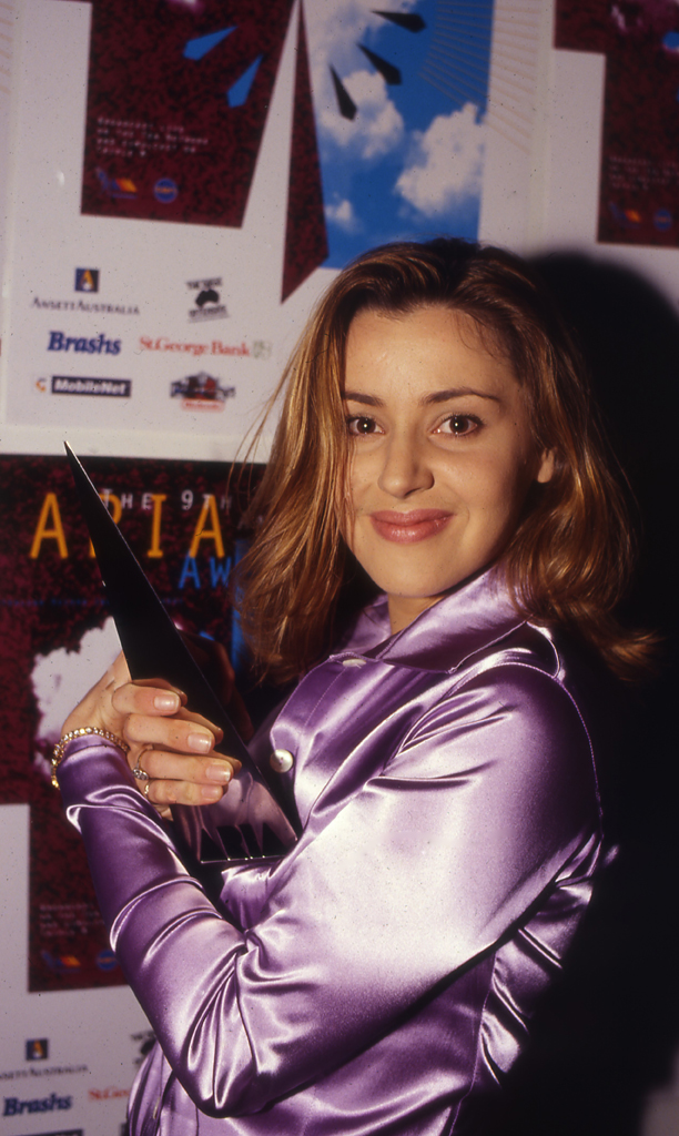 Tina Arena at the 1996 ARIAs. Photo by Tony Mott via ARIA.com.au