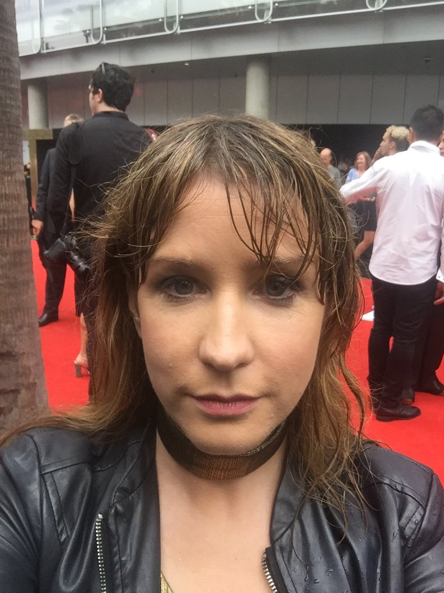 Danielle McGrane wet red carpet ARIAS.jpg