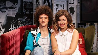 Bridget Hustwaite and Marty Smiley - top two Channel V finalists in 2012. Image via abc.net.au