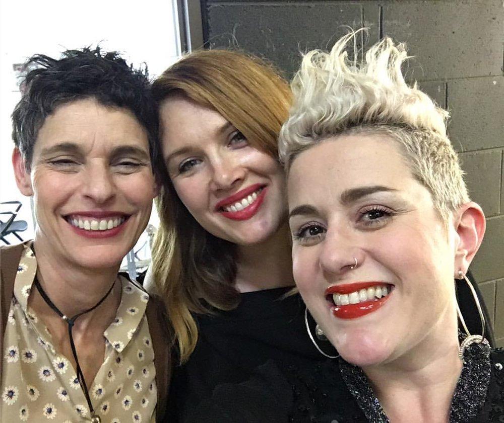 Deborah Conway, Clare Bowditch and Katie Noonan during QMF 2017. Image via Facebook/ConwayZiygier