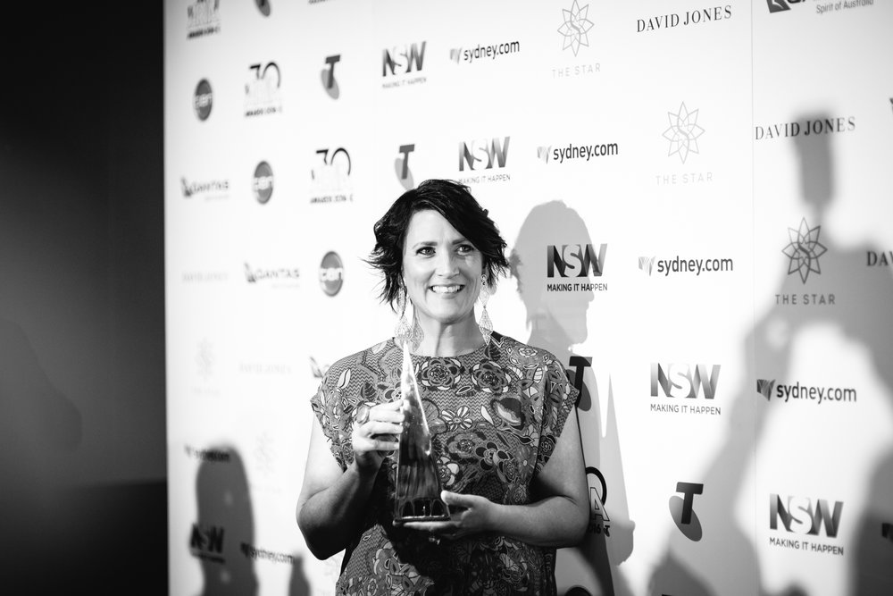 Sara Storer wins an ARIA for Best Country Album 2016. Pic by Alex Carlyle for Music Love -  Check out the full gallery here