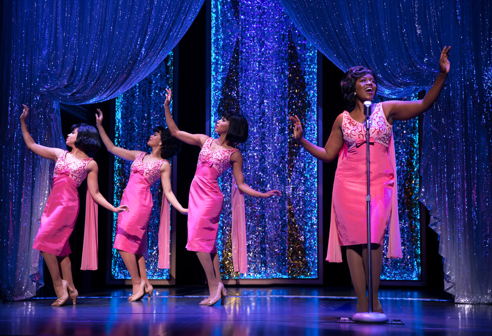 Ruva performs Will You Love Me Tomorrow with the Shirelles in Beautiful: The Carole King Musical. Image by Joan Marcus