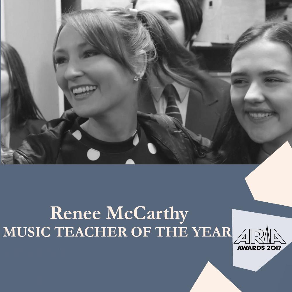 Renee McCarthy Music Teacher ARIAs 2017.jpg