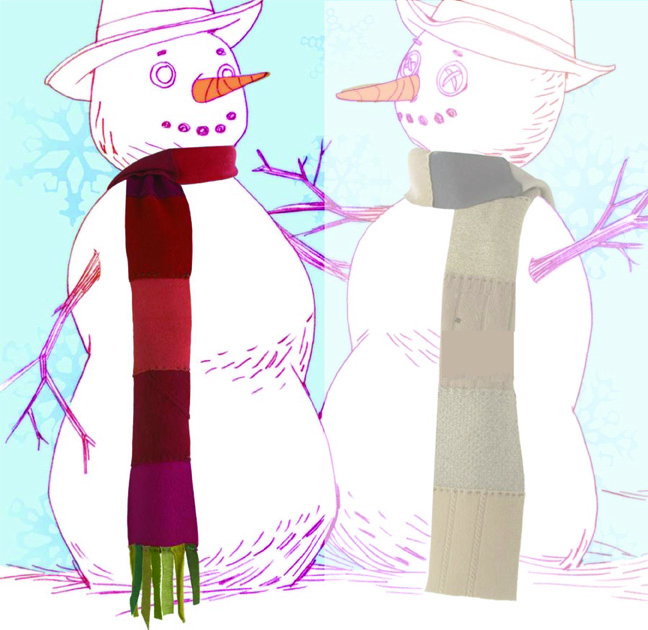 3 Scarf on Left