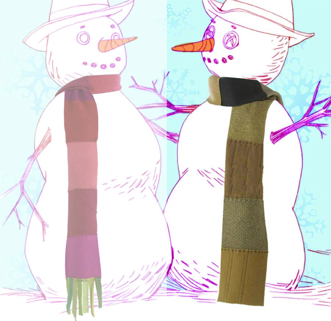 4 Scarf on Right