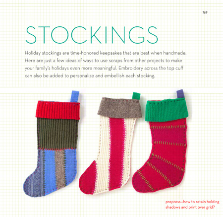 40 Set of Three Holiday Stockings -169