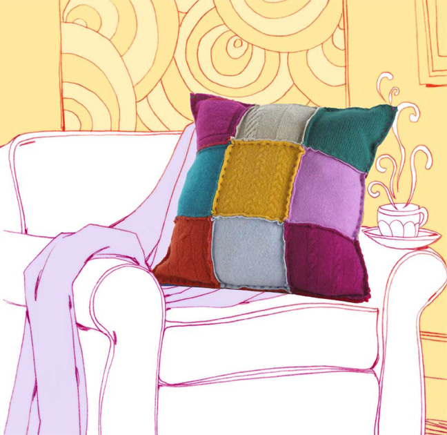 6 Multi ColorBlock Pillow