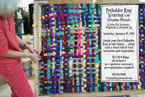 Potholder Rug Weaving Workshop January 19