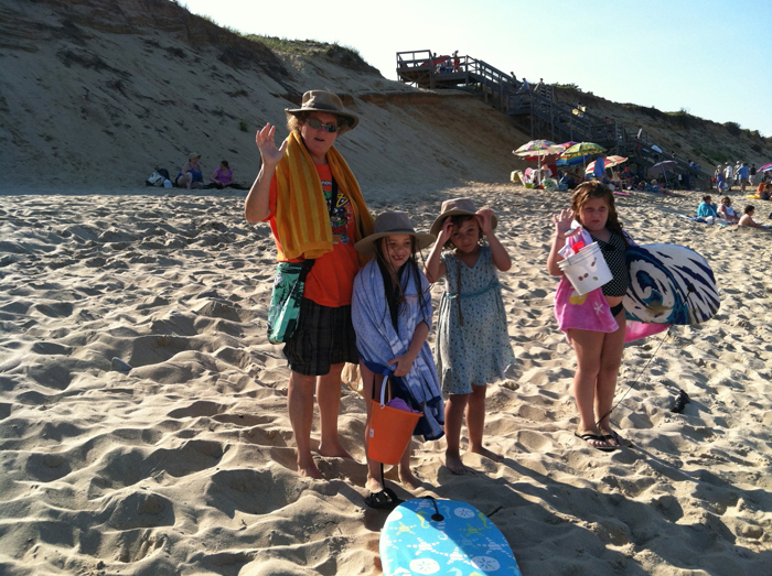 Family and Friends at Marconi Beach Cape Cod, Summer 2012