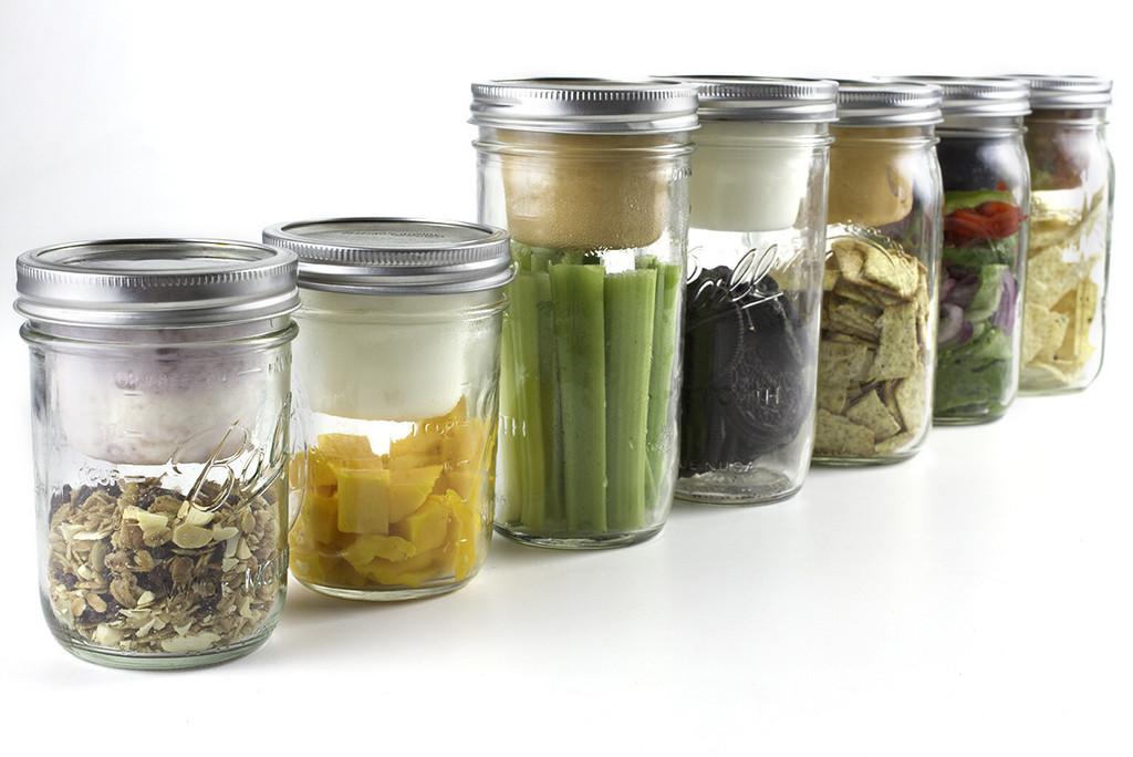 Mason Jar Bento Boxes by www.cuppow.com