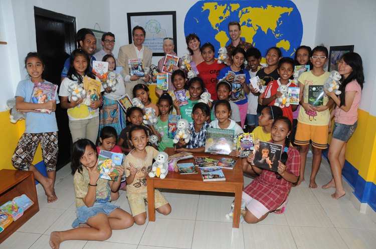 Bali orphanage library opening with Dr. Jane Goodall.