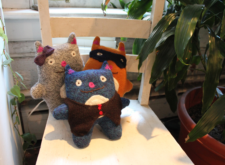 Cats made in in Cochabamba, Bolivia at a fair trade women's collective