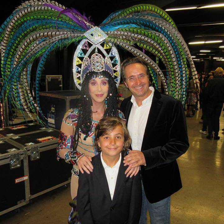 James & son, Alexander with Cher
