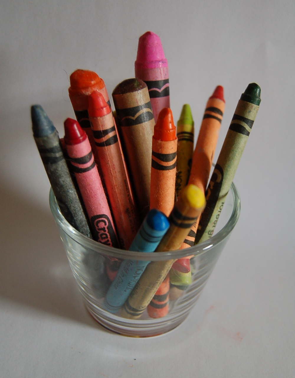 Crayons in cup