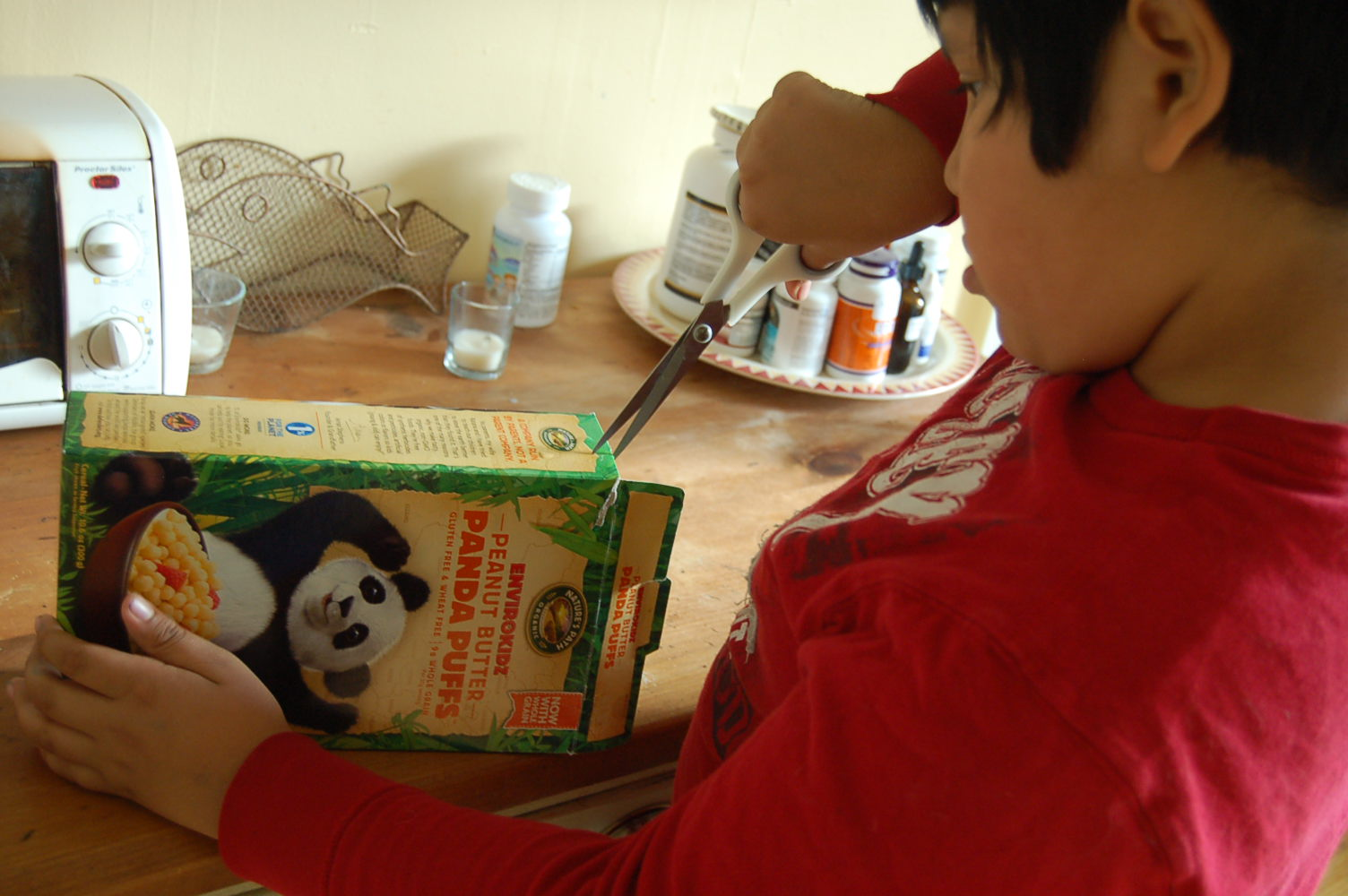 Jav cutting cereal box