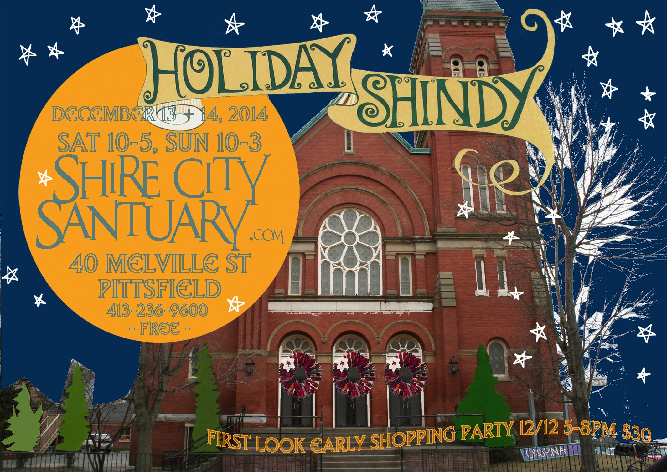 Holiday Shindy 2014 Postcard