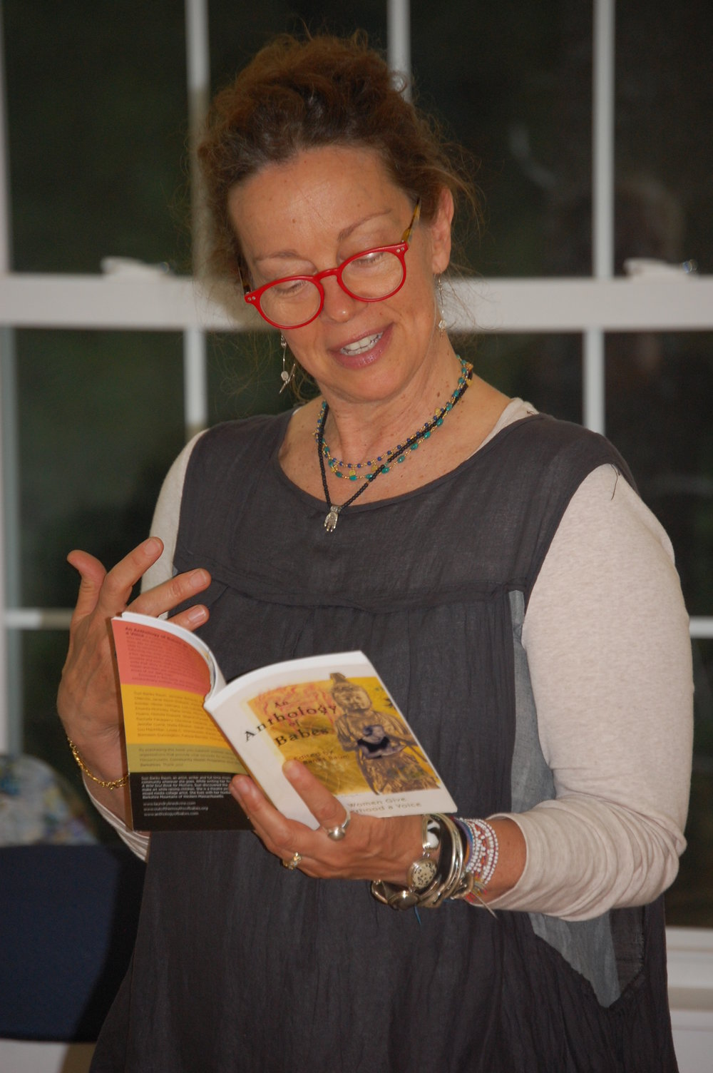 SBB reads from Anthology Upper Peninsula by Geri Miller.JPG