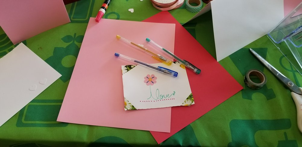Photo Credit: Donna Motta. 4H card making at Joann Fabrics... for our troops!