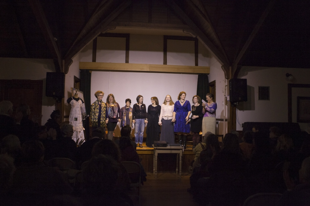 Cast of Out of the Mouths of Babes Leigh Strimbeck, Serene Mastrianni, Lorrin Krouss, Janet Elsbach, Lynnette Najimy, Rachel Siegel, Sarah Hains Di Fazio, Nicole Dupont, SBB