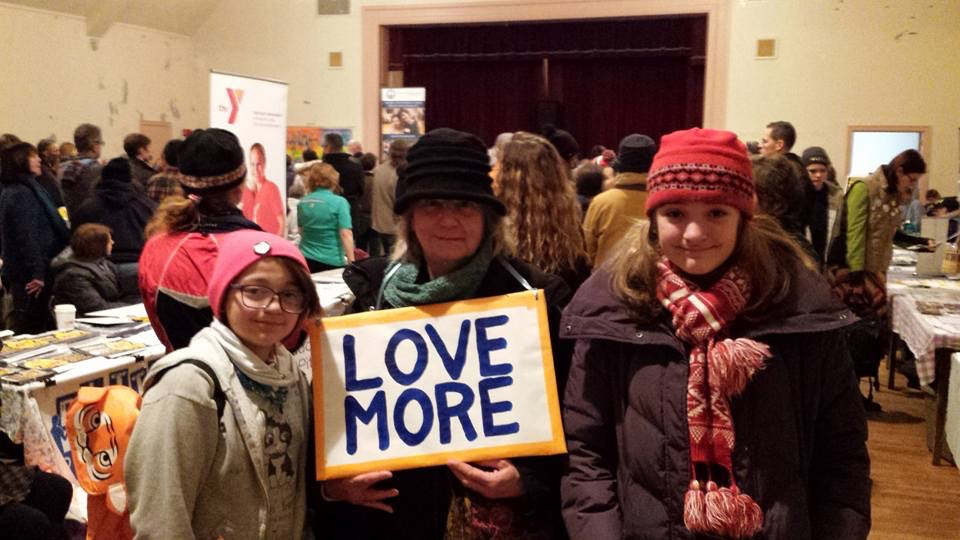 Photo Credit: Donna Motta. At the 4Freedoms March in Pittsfield 2years ago with a wonderful fellow marcher.