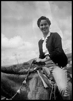 My mom. Outside Cuernavaca 1950s