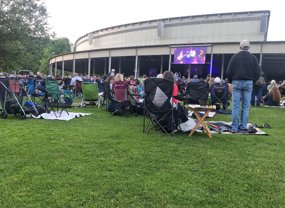 The lawn at Tanglewood, best known as summer home of the Boston Symphony Orchestra...site of occasional epic rock concerts!