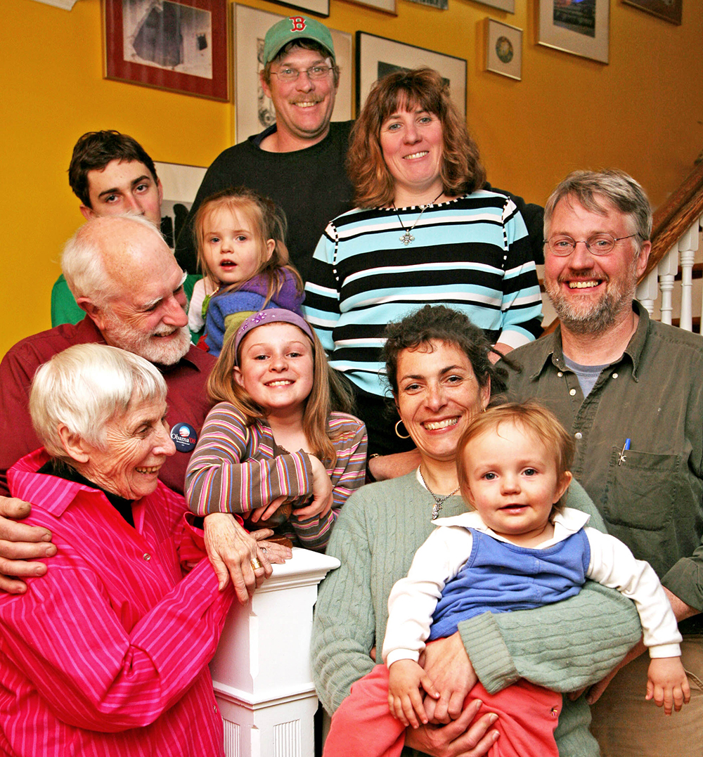 Family portrait from 2008 in my childhood home in Stockbridge MA.   photo credit - Jane Feldman