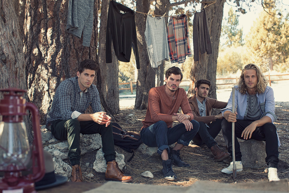 Mark DeLong - Lifestyle Photography - A group of men at a campsite