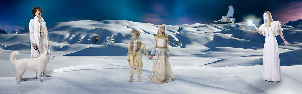 Mark DeLong - Celebrity Photographer - Actors and actresses in a fantasy winter scene.