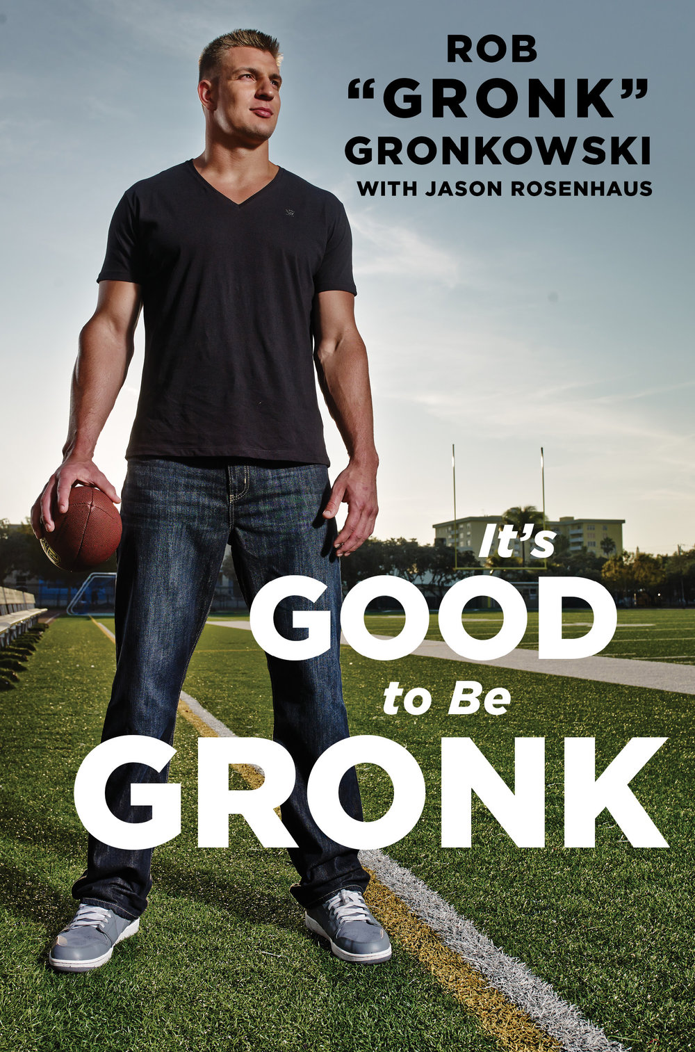 Mark DeLong - Celebrity Photographer - Rob Gronkowski standing on a football field.