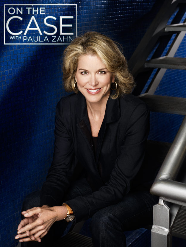 Mark DeLong - Celebrity Photographer - Paula Zahn sitting on steps for on the case.