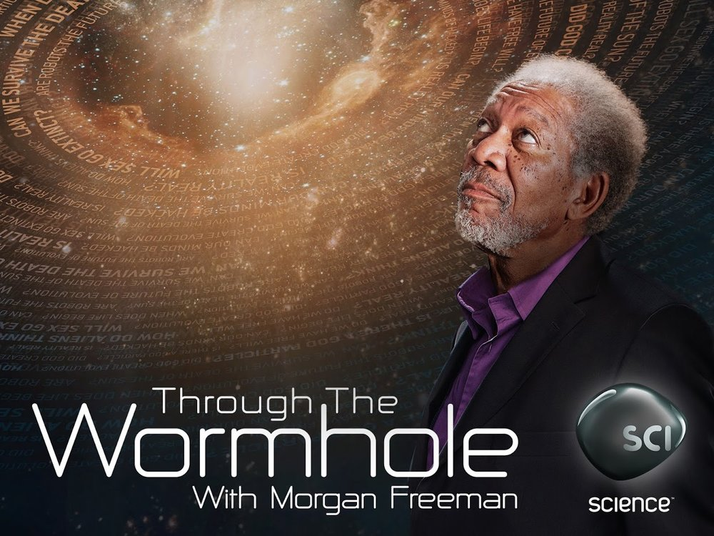 Mark DeLong - Commercial Photography - Morgan Freeman looking through the wormhole.