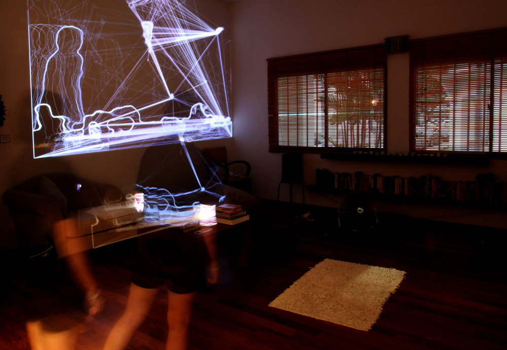 Race Krehel - Time Echo Amplifer, Digital projection with motion input, 2012.JPG