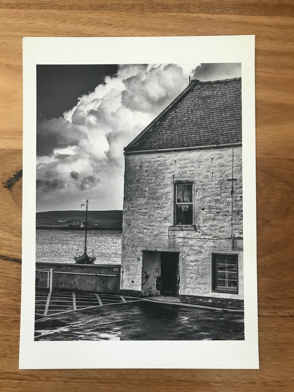 Lerwick Harbour, Shetland Islands, Scotland.  Printed on Canson Arches Velin Museum Rag
