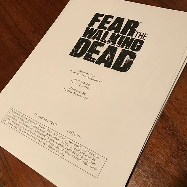 Thank you @amc_tv for letting us auction off @feartwd S3 Ep1 cover page signed by the cast to support @_LosingDays @edfringe Visit www.losingdays.info for more information