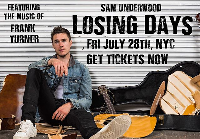 New York preview tix now on sale - Fri July 28th. Visit www.LosingDays.info  #DareToDeclareDepression  #WeShouldProbablyTalk  #FourSimpleWords