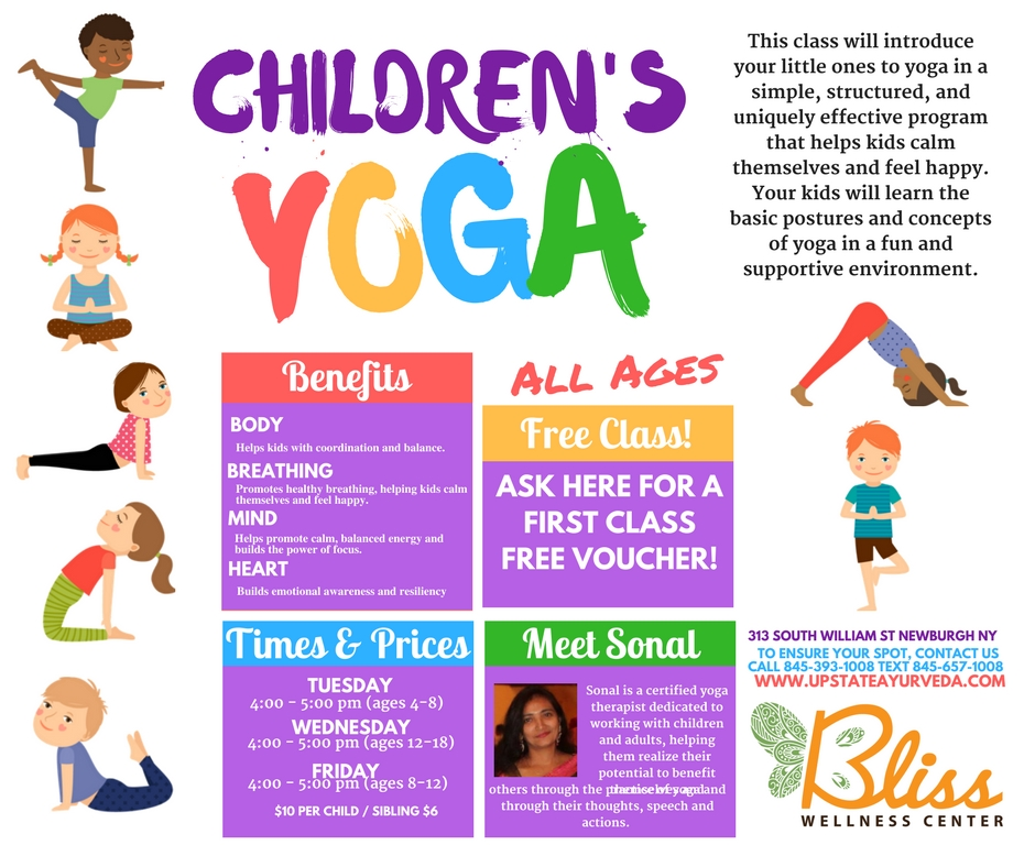 Childrens Yoga Class Bliss Wellness Center