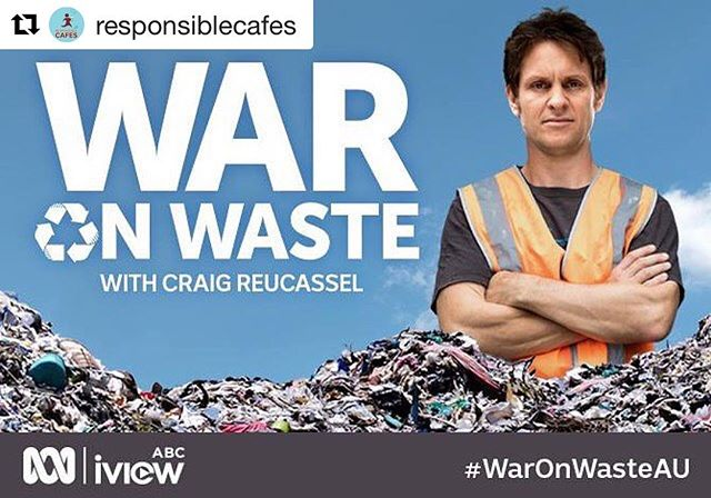 #Repost @responsiblecafes with @repostapp ・・・ The War On Waste is coming and coffee cups and lids are under the spotlight!  Craig Reucassel is on a mission to uncover how much waste we produce as a nation and to learn how, together, we can all do something about it, when he presents the thought provoking three-part documentary series War on Waste, Wednesdays at 8.30pm on ABC.  What's the answer to solve the coffee cup dilemma? #BYOCoffeeCup with #responsiblecafes!