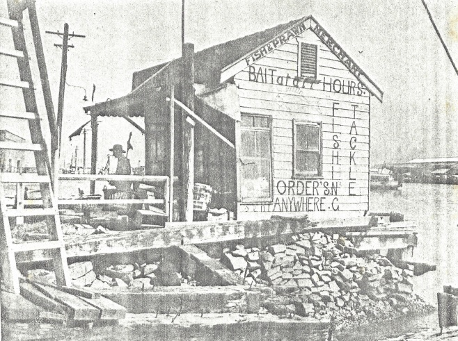 Hartley Spurr's bait shop at Perkins Street boat harbour