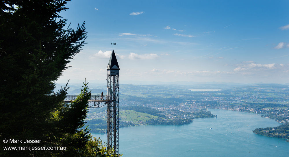 (Photo Mark Jesser) Lucerne, Switzerland. - Hammetschwand Elevator/Lift.