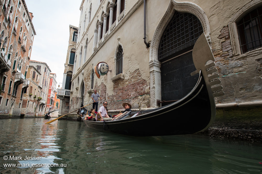 (Photo Mark Jesser) Venice, Italy. - Gondolas