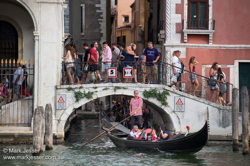 (Photo Mark Jesser) Venice, Italy. - Gondola or walk, options are limited.
