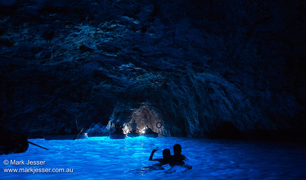 (Photo Mark Jesser) Capri, Italy. - Blue Grotto (The Blue Grotto is a sea cave on the coast of the island of Capri)